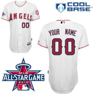 53e8c96ea Angels of Anaheim Personalized Authentic White w 2010 All-Star Patch MLB  Jersey (S-3XL)