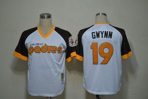 Mitchell And Ness Padres #19 Tony Gwynn White Throwback Stitched MLB Jersey